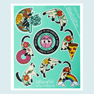 Kinetic Kitties Sticker Sheet