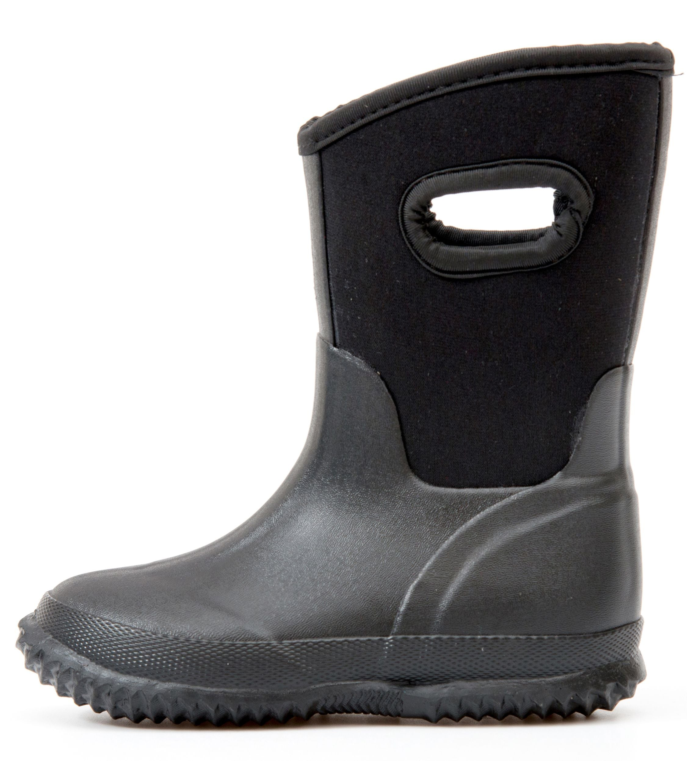 Outee Kids Boys Neoprene Snow Boots Mud Boots - Black