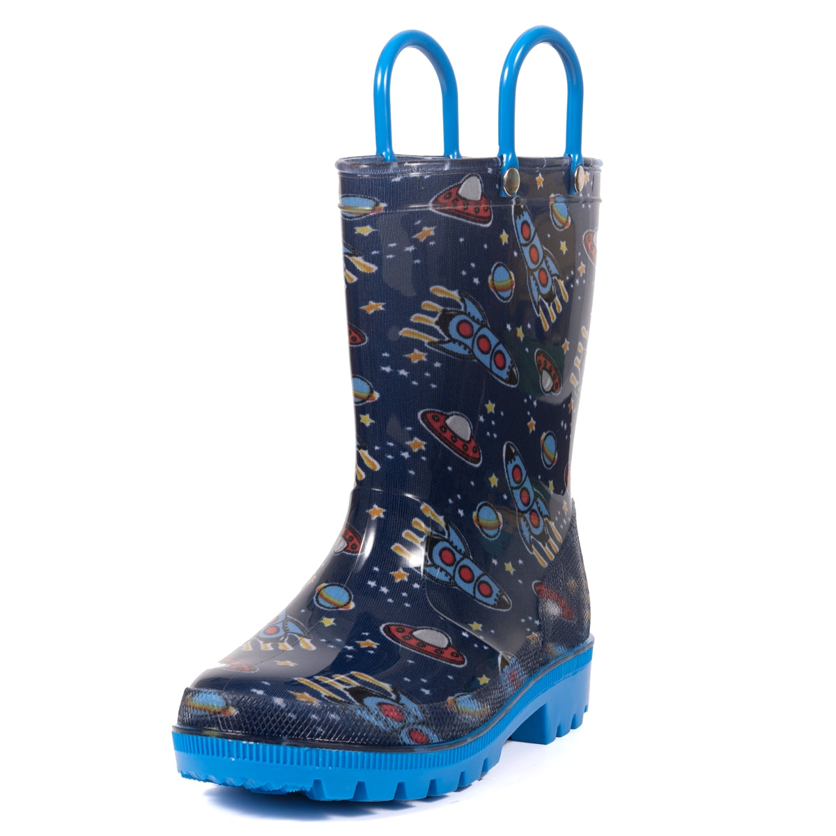 Outee Boys Lightweight Rain Boots - Navy Cosmo