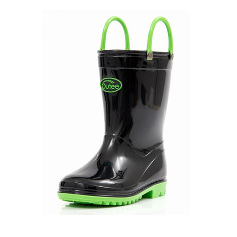 Outee Toddler Kids Rain Boots Collection with Handles