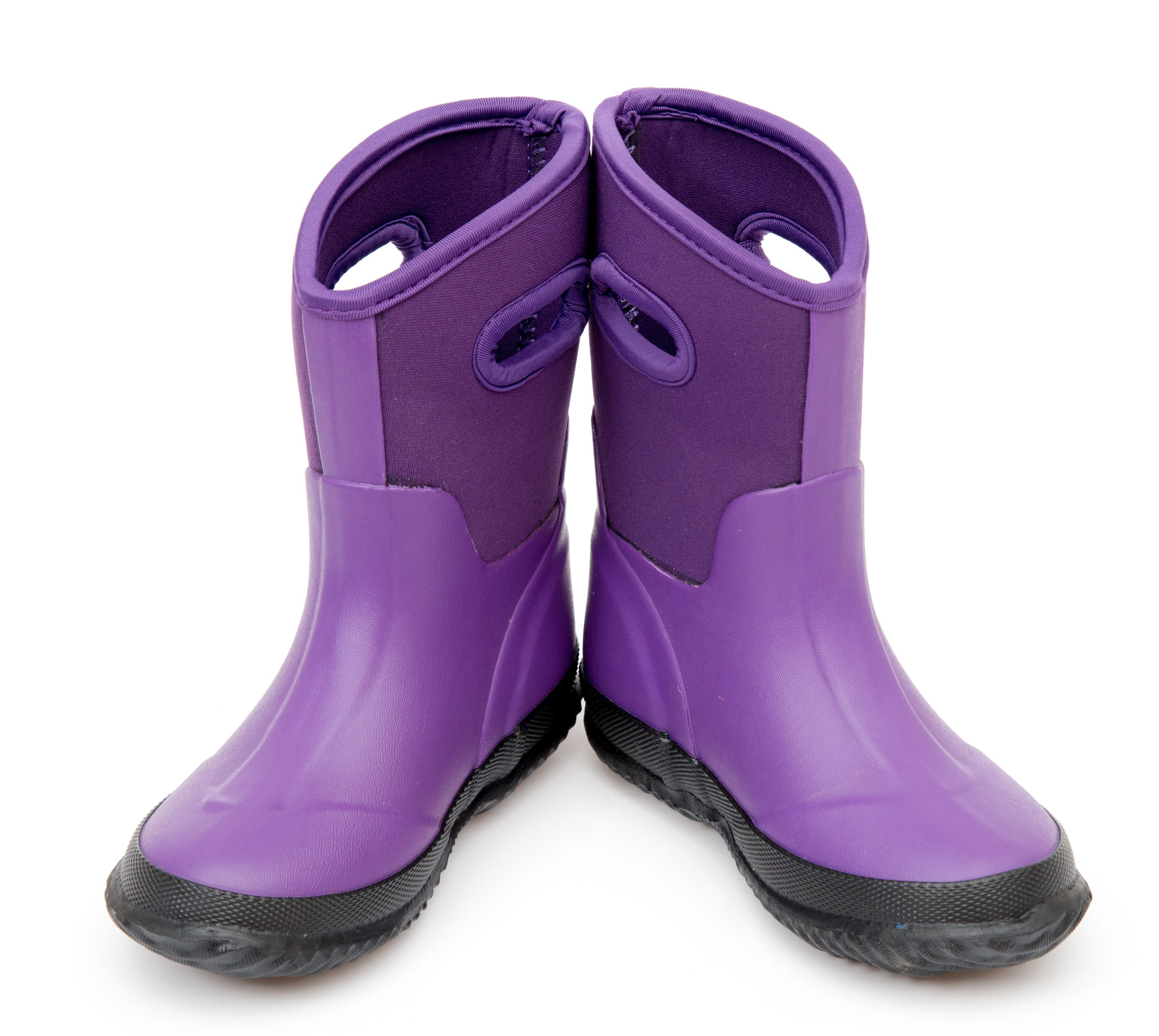 Outee Kids Girls Neoprene Snow Boots Mud Boots - Purple