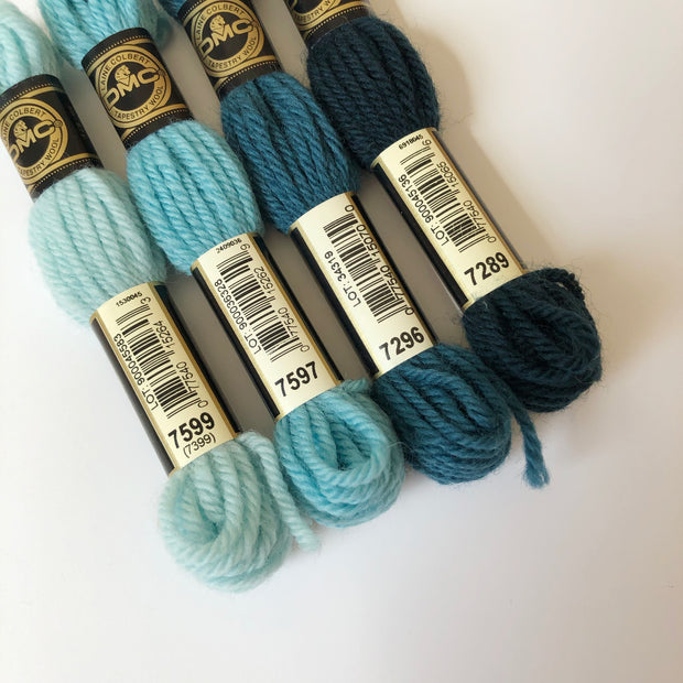 Tapestry Wool: Blues, Aquas, Teals