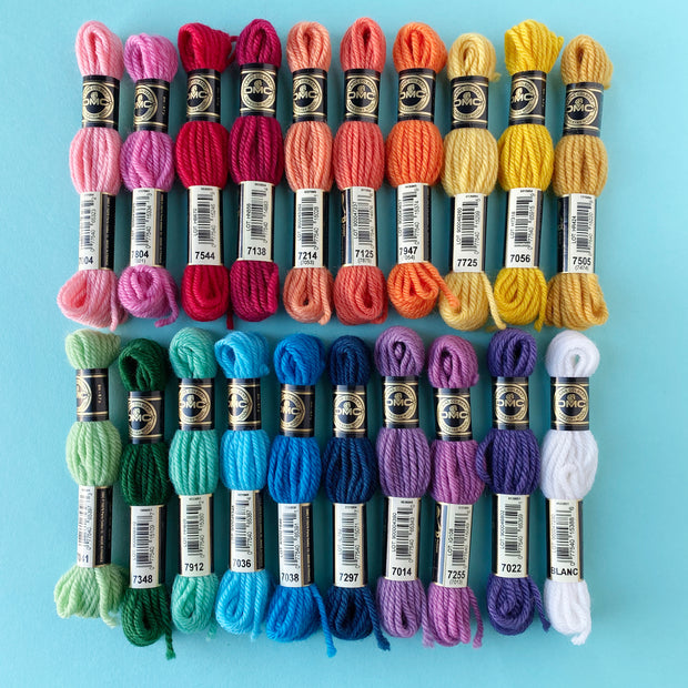 Bright Rainbow 20 Skein Tapestry Wool Bundle