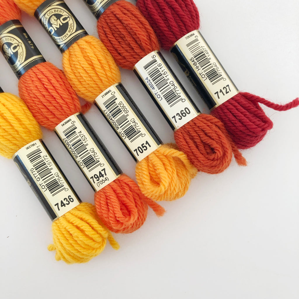 Tapestry Wool: Oranges, Corals, Peaches