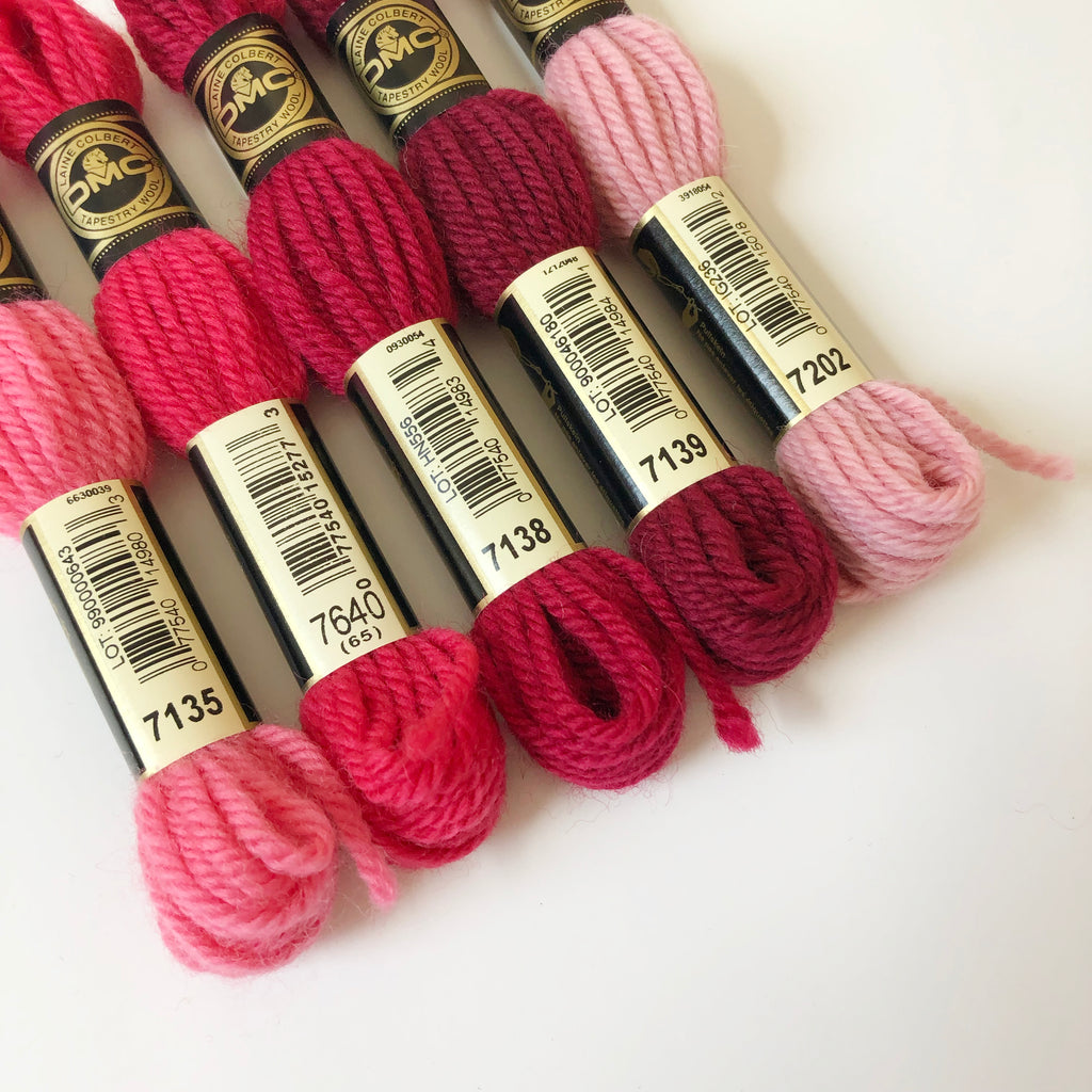 Tapestry Wool: Reds, Pinks, Maroons