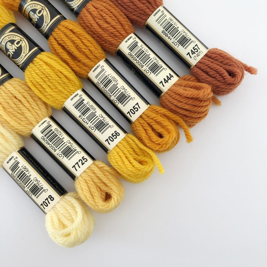 Tapestry Wool: Gold, Yellow, Rust, Medium-Brown