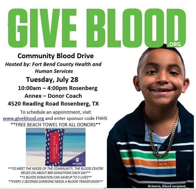 Blood Drive This Week In Fort Bend County