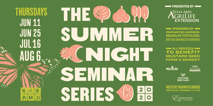 Summer Night Seminar Series at Enchanted Gardens