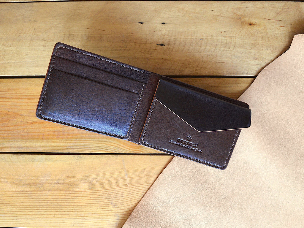 Mini Coin Pocket Wallet - Chocolate