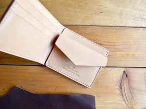 Coin Pocket Wallet - Olive & Natural Tan