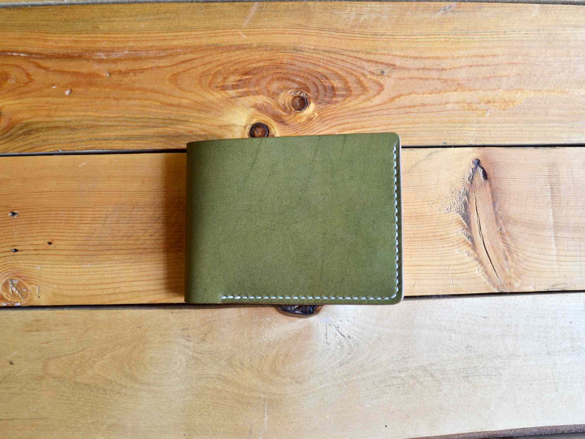 Coin Pocket Wallet - Olive & Nude