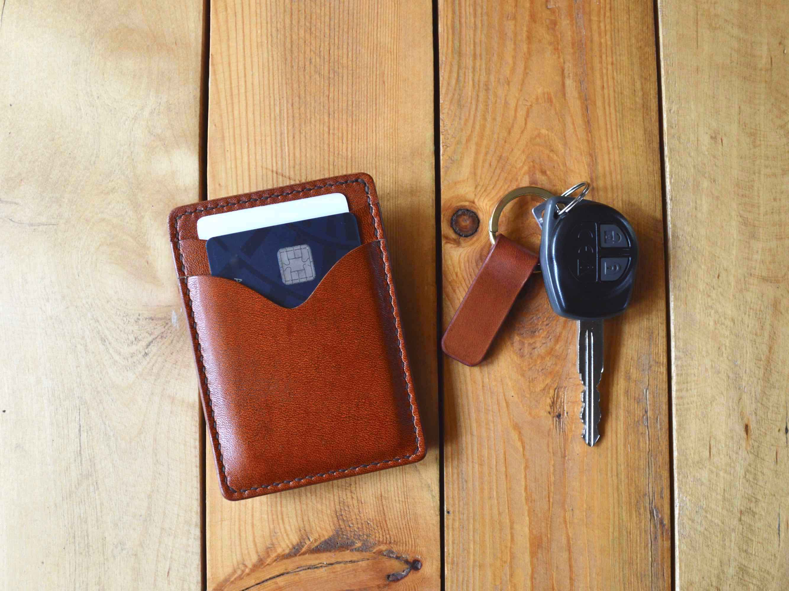 Credit Card Sleeve - Chestnut Brown