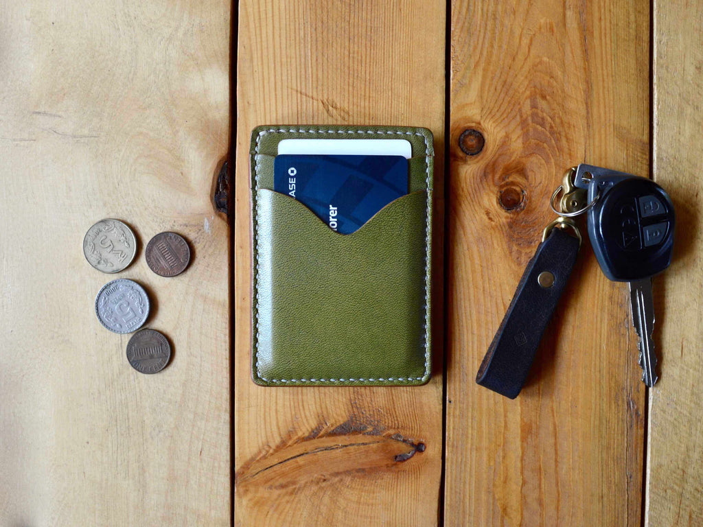 Credit Card Sleeve - Olive