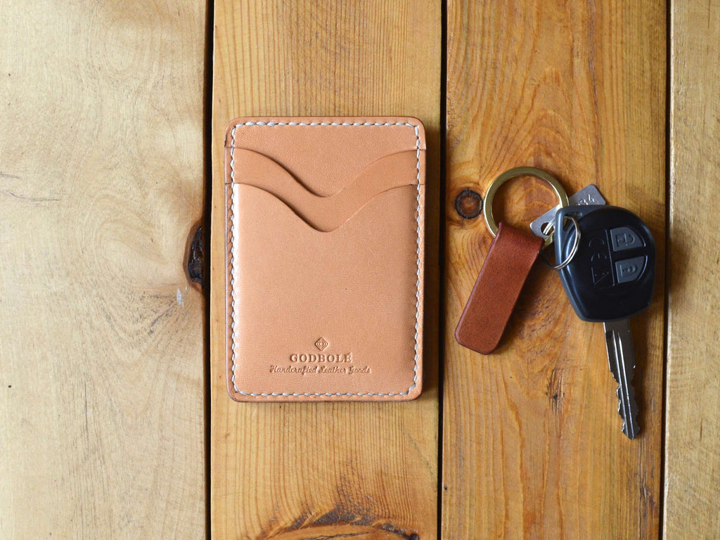 Credit Card Sleeve - Natural Tan