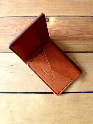 Mini Coin Pocket Wallet - Chestnut Brown