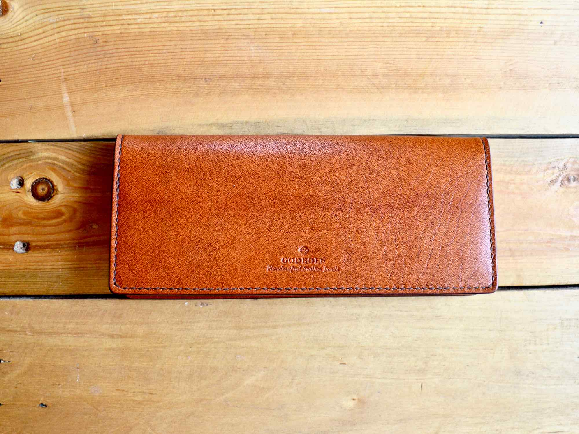 Long Bifold Wallet - Chestnut