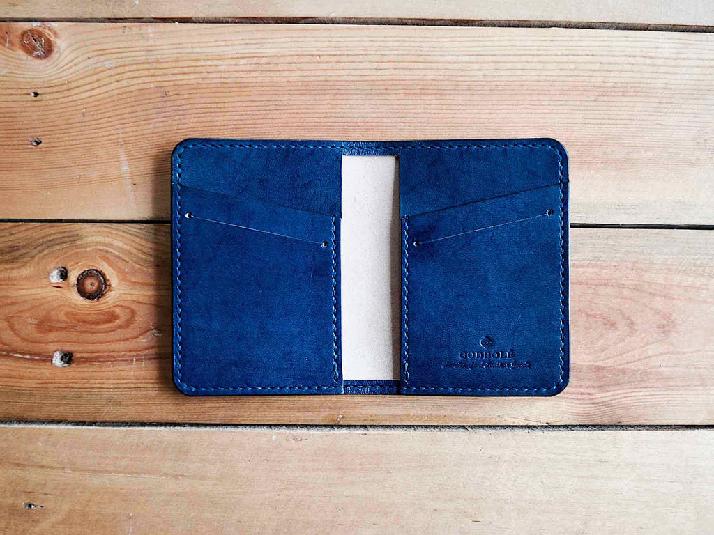 Bifold Card Wallet No. 2 - Navy