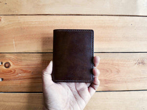 Bifold Card Wallet No. 1 - Chocolate