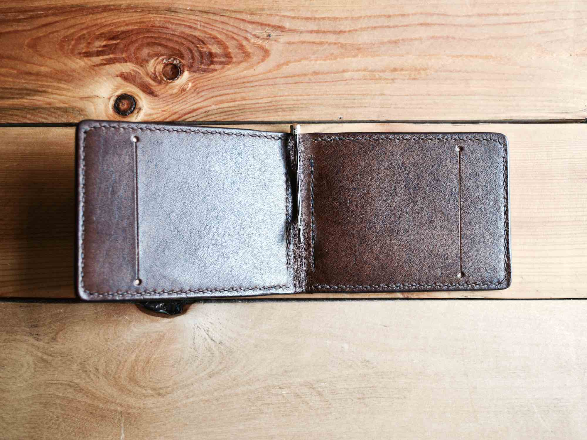 Money Clip Wallet - Chocolate