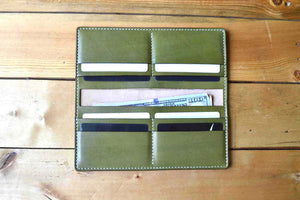 Long Bifold Wallet - Olive