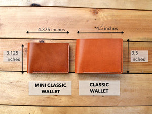 Mini Classic Wallet - Chocolate