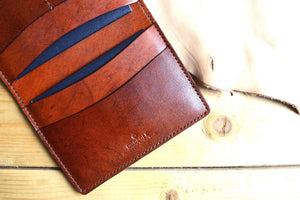 Full Grain Leather - 2 Passport Wallet. Couple or Family Passport Cover. Couple or Family Passport Wallet.