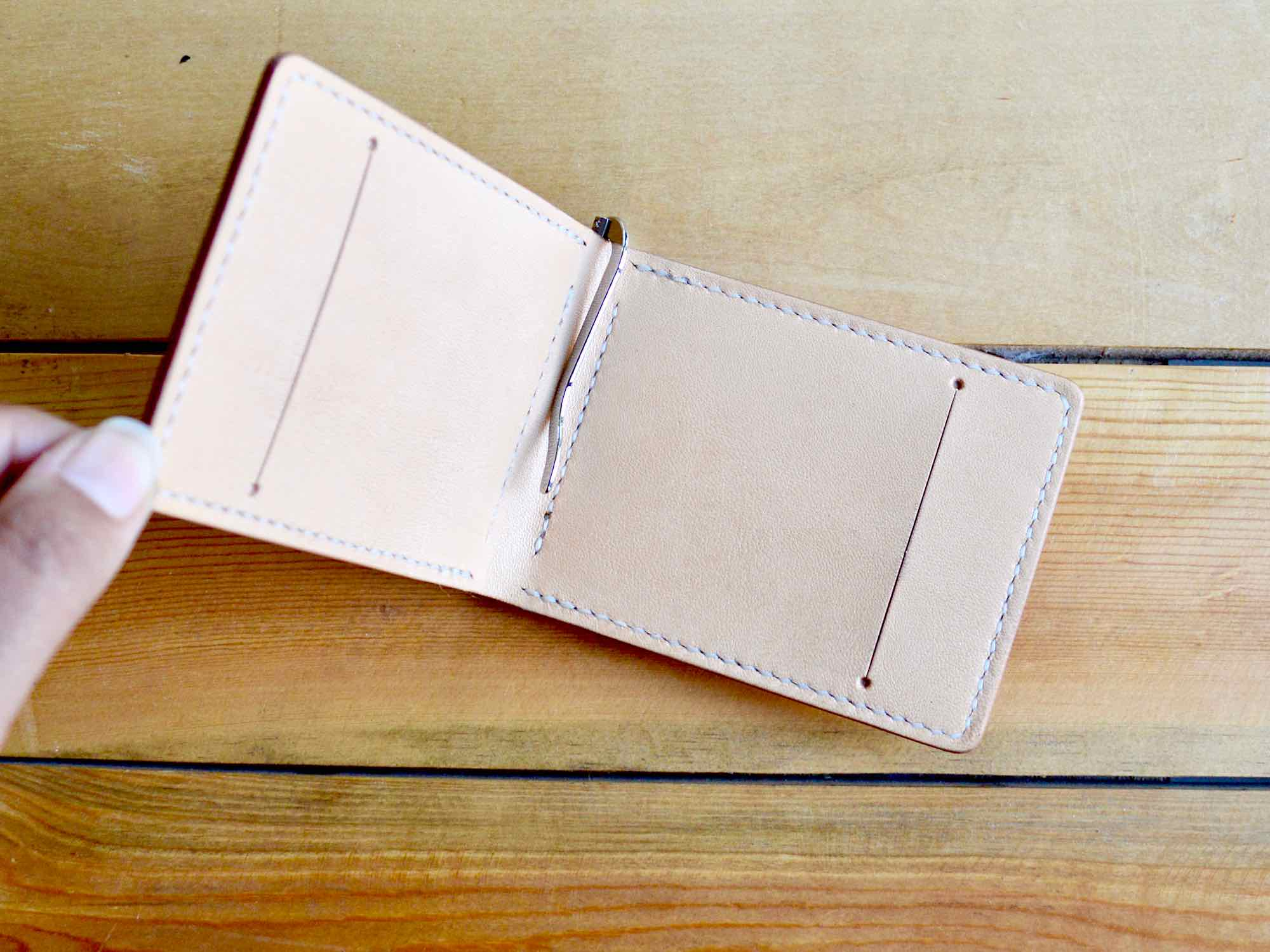 Money Clip Wallet - Natural Tan