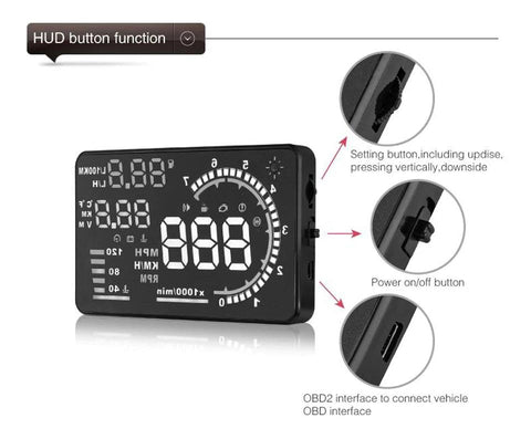 OBD II Car Head Up Display Buttons