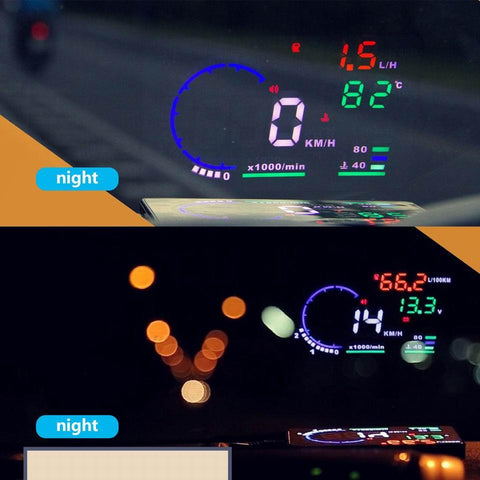 OBD II Car Head Up Display Night and Day