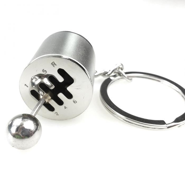 Car Gear KeyChain Silver