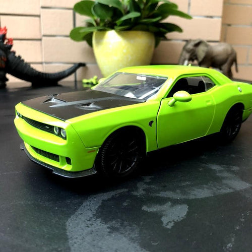 Dodge Challenger Hellcat Toy Green