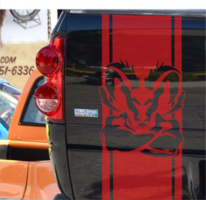 Dodge Ram Tail Decal Red