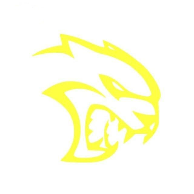 Hellcat Logo Sticker Yellow
