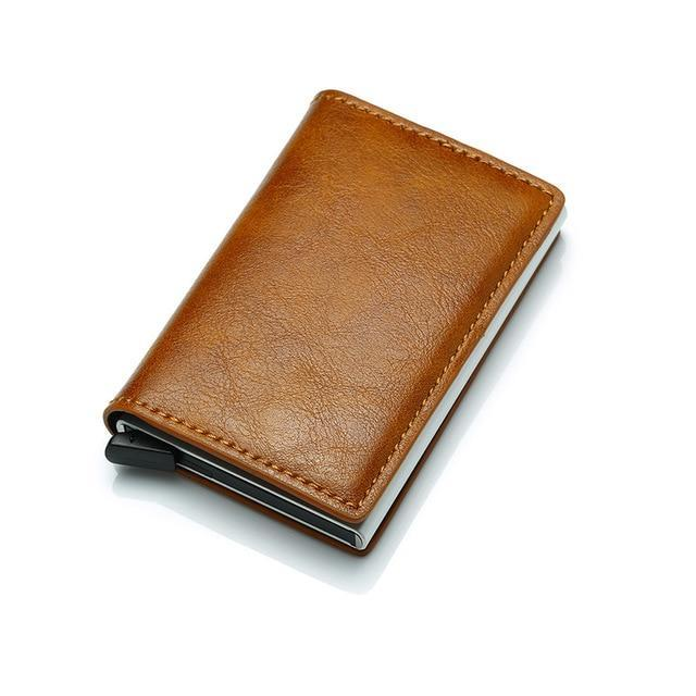 RFID Anti Theft Card Wallet Apricot