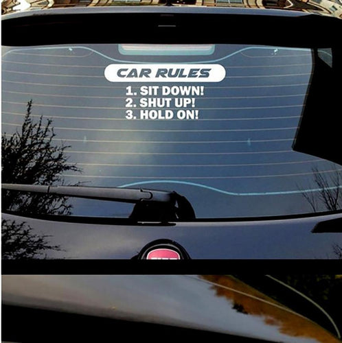 Rules For Passengers Sticker White