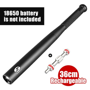 SHENYU Baseball Bat LED Flashlight 350 Lumens Super Bright Baton Torch for Emergency and Self-Defense