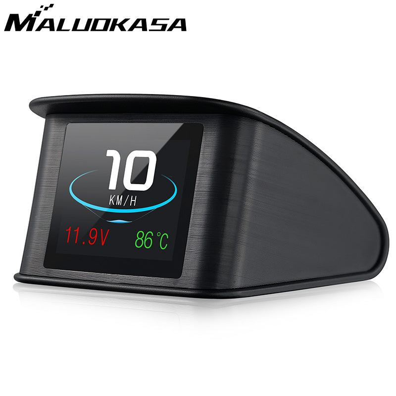 Head Up Speedometer Display Hud GPS OBD Computer Car Speed Digital Display Fuel Consumption Temperature Gauge Diagnostic Tool