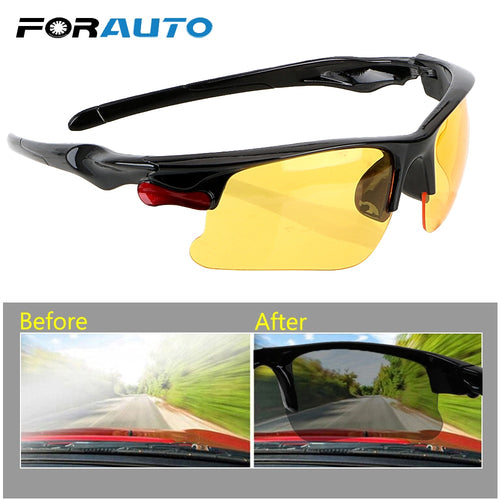 FORAUTO Car Anti Glare Driving Glasses Night-Vision Glasses Protective Gears Sunglasses Night Vision Drivers Goggles