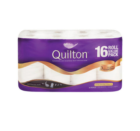 Quilton Unscented White 3 Ply Toilet Tissue