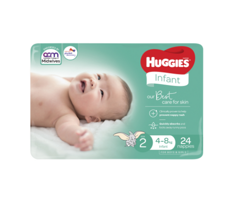 Huggies Ultimate Nappies 4-8kg Infant