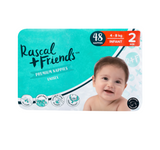 Rascal and Friends Premium Nappies Unisex 4-8kg Infant
