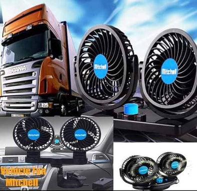 Dual HeadAuto Cooling Car Fan