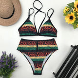 New African Two-Piece Bandage Bodysuit