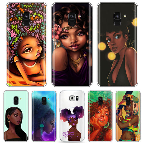 Samsungs Galaxy Afro Women Phone Cases
