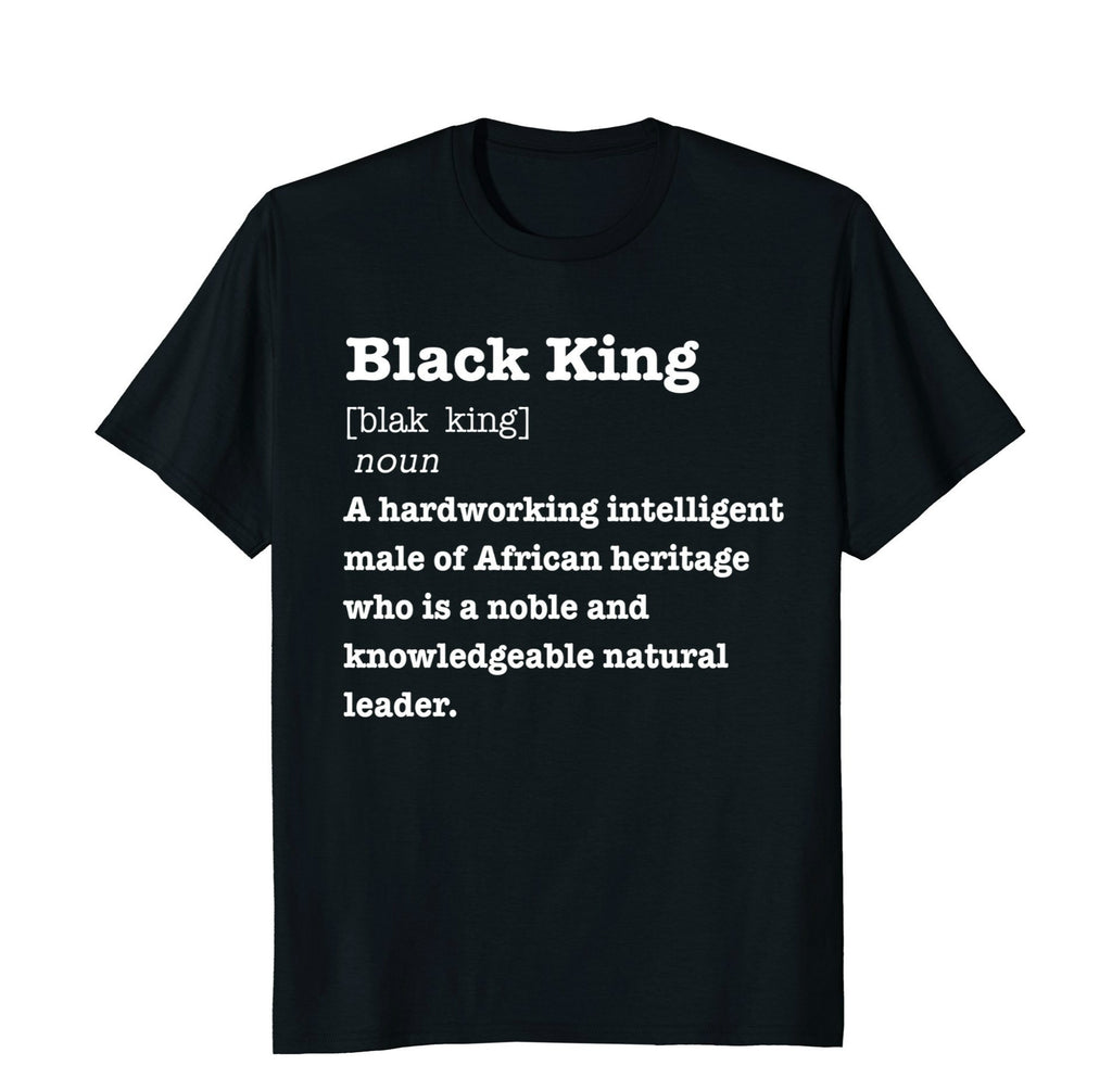 Men Novelty Pride Black King T-Shirt