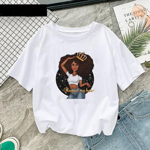 Cool Black Queen Printed T-Shirt FREE + SHIPPING