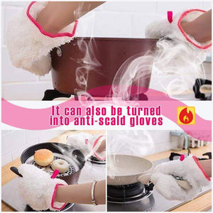 Bamboo Fiber Dishwashing Gloves