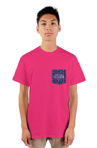 High Vibe Free thinker Pink pocket Tee