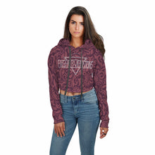 FLORAL FUSION Women's Crop Hoodiec