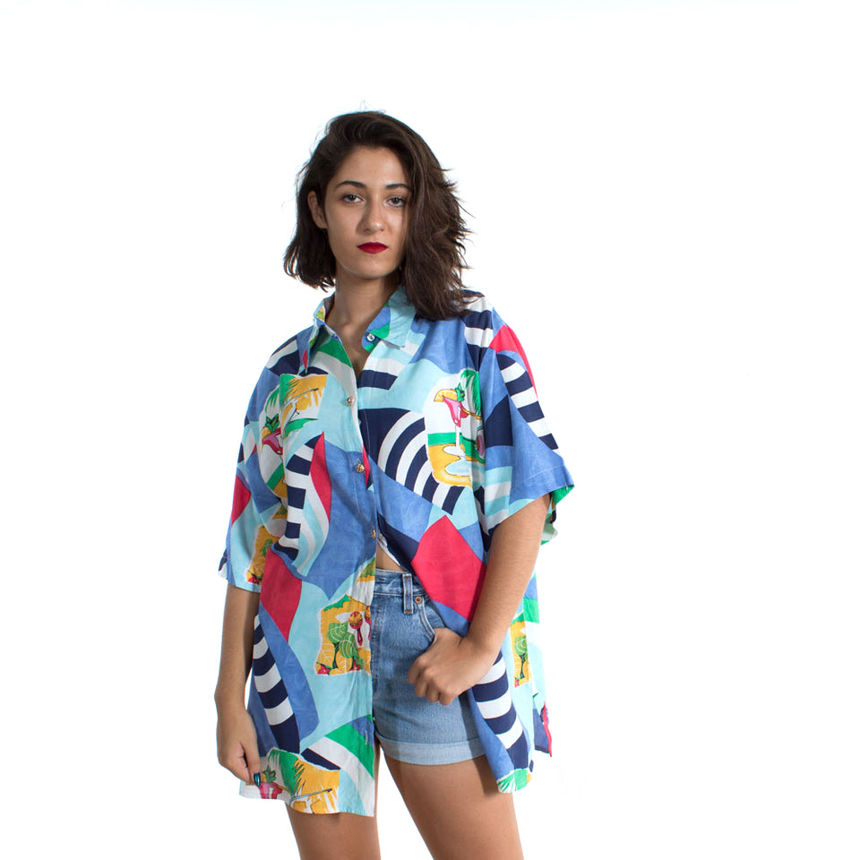 Camisa Larga Estampado Summer - Vintalogy